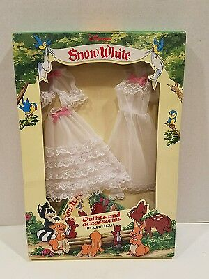 """Disney Snow White 11-1/2"""" Doll Outfit and Accessories White Dress w/Slip"""