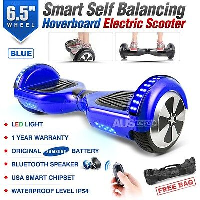 Two Wheel Bluetooth Blue Electric Glide Board Scooter UL Certified with Free Bag
