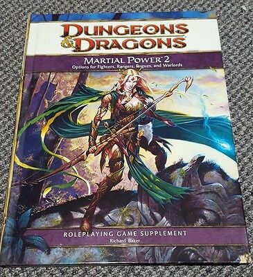Dungeons & Dragons 4th Edition Martial Power 2 WTC251230000 Good Condition