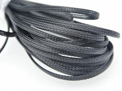 4mm-18mm PET Expandable Braided Cable Sleeving Wire Gland Sleeving - Black