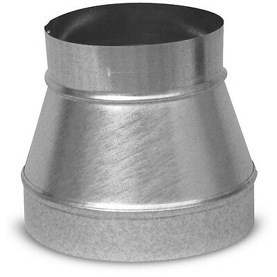 "Air Duct Reducer 8"" to 6"" Round Galvanized Steel Metal Adapter Connector Heating"