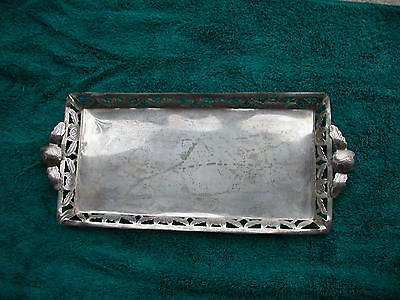 "Pre 1980 Mexico Sterling Silver Shot Glass Tray 11 3/4"" By 5 1/8"" 134 Grams"