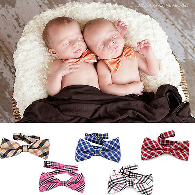 Men Newborn Boys Baby Toddler Red Bow Tie Adjusts Wedding Ring Bearer Necktie