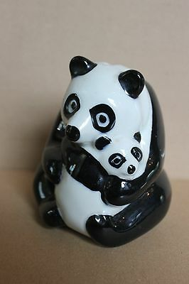 Wade Nat West Panda and Baby Money Box. Vintage Collectable.