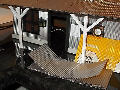 Model Corrugated Iron for 16mm, G scale, Garden Railway.