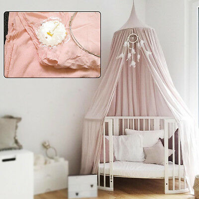 UK Girls/ Kids Mosquito Net Mesh Bed Canopy Fly Insect Protection Round Dome Net