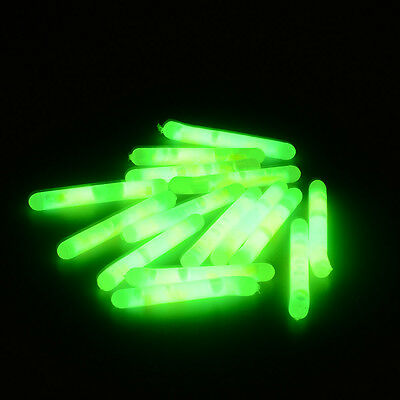 50 PCS Fishing Fluorescent Light Stick Luminous Stick Night Float Bobber