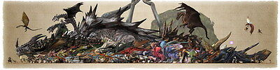 """012 Monster Hunter - Moster Fight Game 56""""x14"""" Poster"""