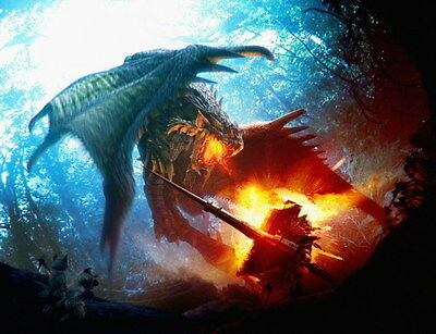 """001 Monster Hunter - Moster Fight Game 18""""x14"""" Poster"""