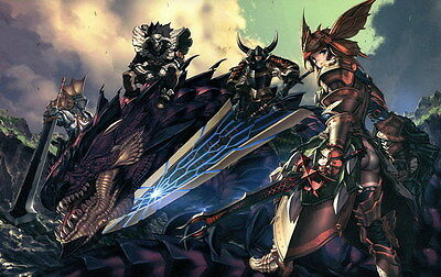 """002 Monster Hunter - Moster Fight Game 22""""x14"""" Poster"""