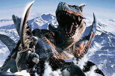 """014 Monster Hunter - Moster Fight Game 21""""x14"""" Poster"""