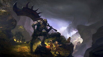 """003 Monster Hunter - Moster Fight Game 25""""x14"""" Poster"""