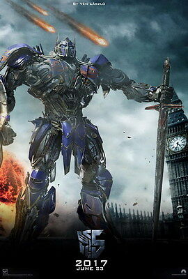"""004 Transformers 5 - The Last Knight 2017 Action Movie 14""""x20"""" Poster"""
