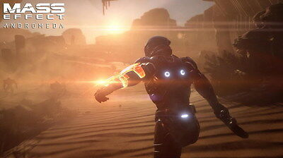 """056 Mass Effect 4 - Andromeda ME Fighting Shooting Game 24""""x14"""" Poster"""