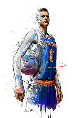 "036 Kristaps Porzingis - NEW YORK KNICKS NBA Star 14""x21"" Poster"
