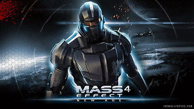 """058 Mass Effect 4 - Andromeda ME Fighting Shooting Game 42""""x24"""" Poster"""