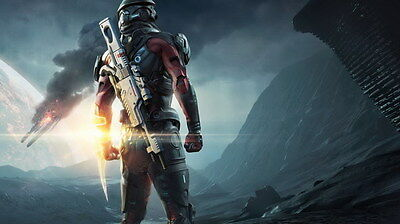 """061 Mass Effect 4 - Andromeda ME Fighting Shooting Game 42""""x24"""" Poster"""