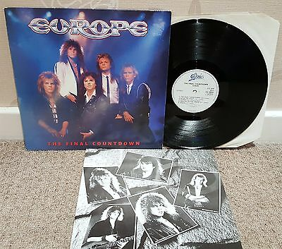 "Europe - The Final Countdown 12"" Lp / Record - Epic"