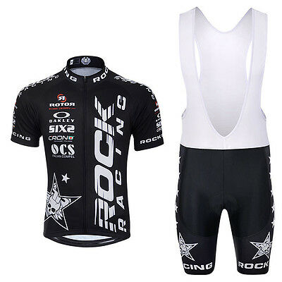 Conjunto Maillot Y Culotte Transpirable,rock Racing,colores Negro,rojo O Blanco.