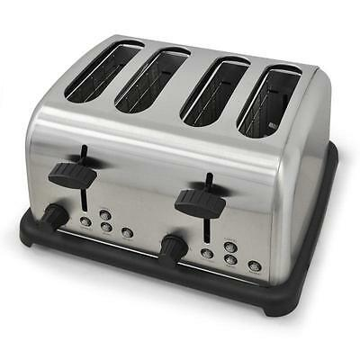 1650W 4-SLICE STAINLESS STEEL TOASTER w. DEFROST REHEAT