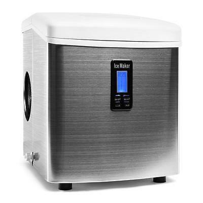 Silver Ice Cube Making Machine Ice Maker 150W Stainless Steel Mordern Design