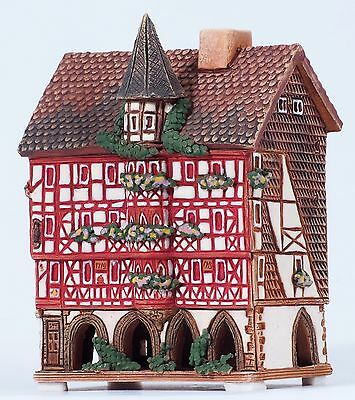 "Handmade Midene ceramic incense house ""Mollenhauerhaus in Fulda, Germany"" (R349)"