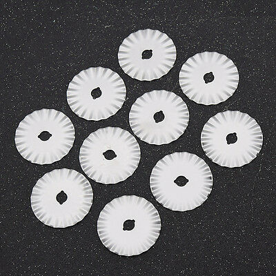 10 Pcs Round Rotary Cutter Blade for Fabric Paper Cutting Metal Craft Tool