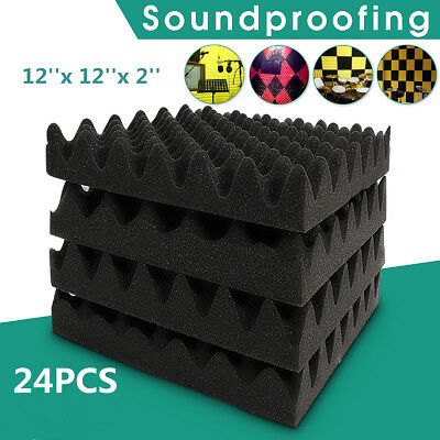 300X 300X 60mm Treatment Acoustic Foam Wedge Tiles Studio Egg Profile Absorption