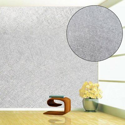 10M Sparkling Silver Glitter Plain Feature Wallpaper Glamour Glitz Bug AY
