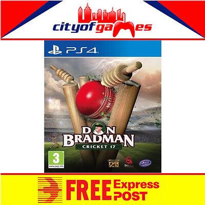 Don Bradman Cricket 17 PS4 Game New & Sealed Free Express Post