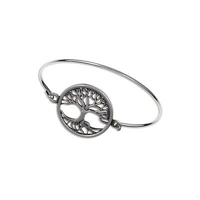 Tree of Life Clip Bangle Cornish Pewter by St. Justin, UK - TB681