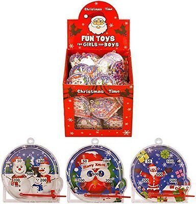 MINI CHRISTMAS PINBALL  PUZZLE ~ STOCKING FILLERS TABLE PRESENT mix of designs