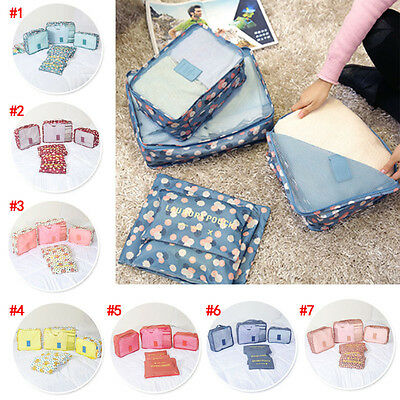 6x Travel Storage Bag Clothes Organizer Luggage Suitcase Closet Divider Drawer
