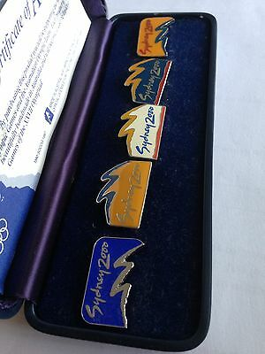 Sydney 2000 Olympic Games Boxed Pin Badge Set Authentic Merchandise Rare