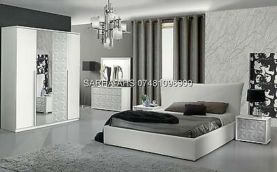MODERN STYLE HIGH QUALITY ITALIAN FULL BEDROOM SET WITH 6 PCS **Free Delivery**