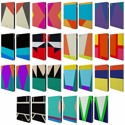 HEAD CASE DESIGNS COLOUR BLOCKING LEATHER BOOK WALLET CASE FOR APPLE iPAD AIR 2