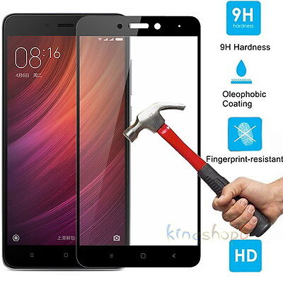 2.5D 9H Full Cover Tempered Glass Screen Protector Guard For Xiaomi Redmi Note 4