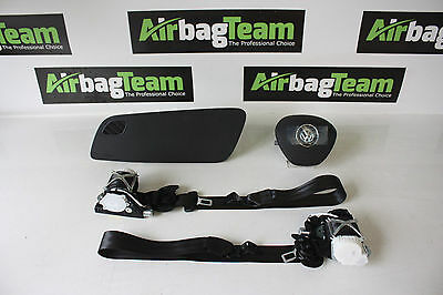 VW Polo 6C 2014 - Onwards Airbag Kit Dash Pod Top Driver Passenger Seat Belt