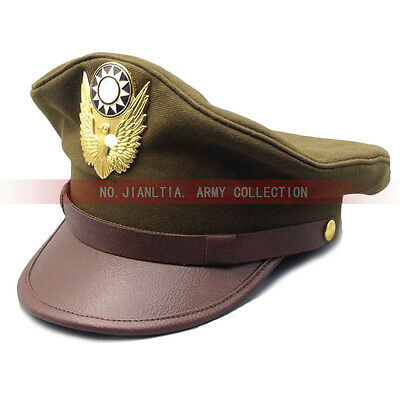 WW2 KMT Military Air Officer Filed Hat Service Wool Cap