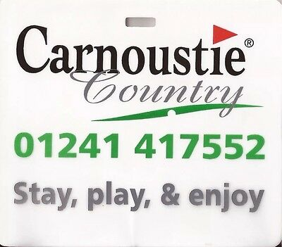 Carnoustie Country golf club golf bag tag