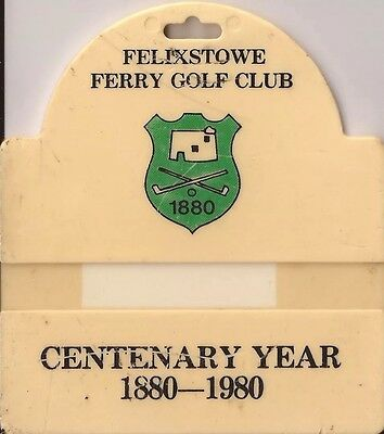 Felixstowe Ferry golf club golf bag tag