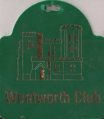 Wentworth golf club golf bag tag