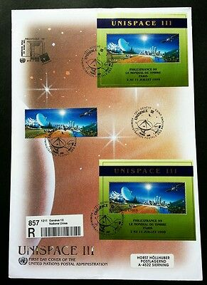United Nation Unispace 1999 Earth Space Planet (FDC) *rare *addressed *see scan