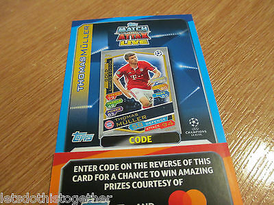 Match Attax Attack Champions LGE 2016/17 GOLD Muller LIMITED EDITION Code 16-17!