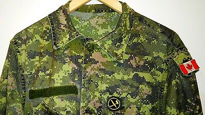 Canadian Forces Lightweight Combat Jacket CadPat Camo Size 7340