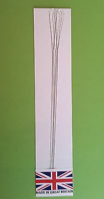 "Beading Needles  S/s Twisted Wire Super Jumbo Eye 6"" Length Pack Of 5 Free P&p**"