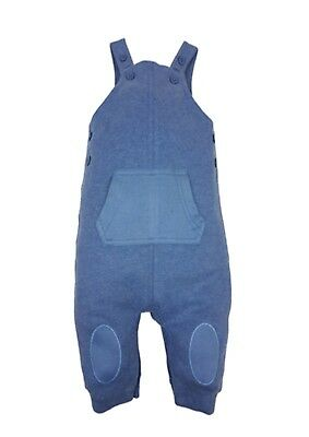 Baby blue dungarees 100% cotton with kangaroo pouch pocket
