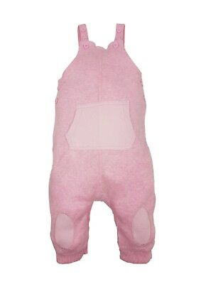 Baby pink dungarees 100% cotton with kangaroo pouch pocket