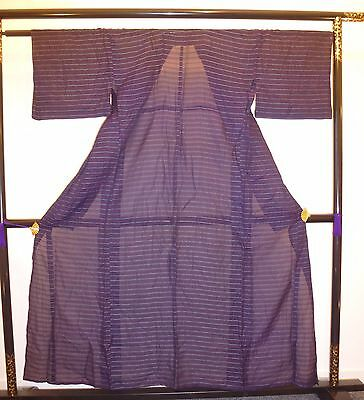 Authentic Japanese polyester see through kimono for women, Japan import (I777)