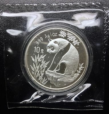 10 Yuan China 1993 Small Date Panda Originally Encapsulated & Double Sealed